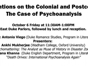 """Interventions on the Colonial and Postcolonial: The Case of Psychoanalysis"""